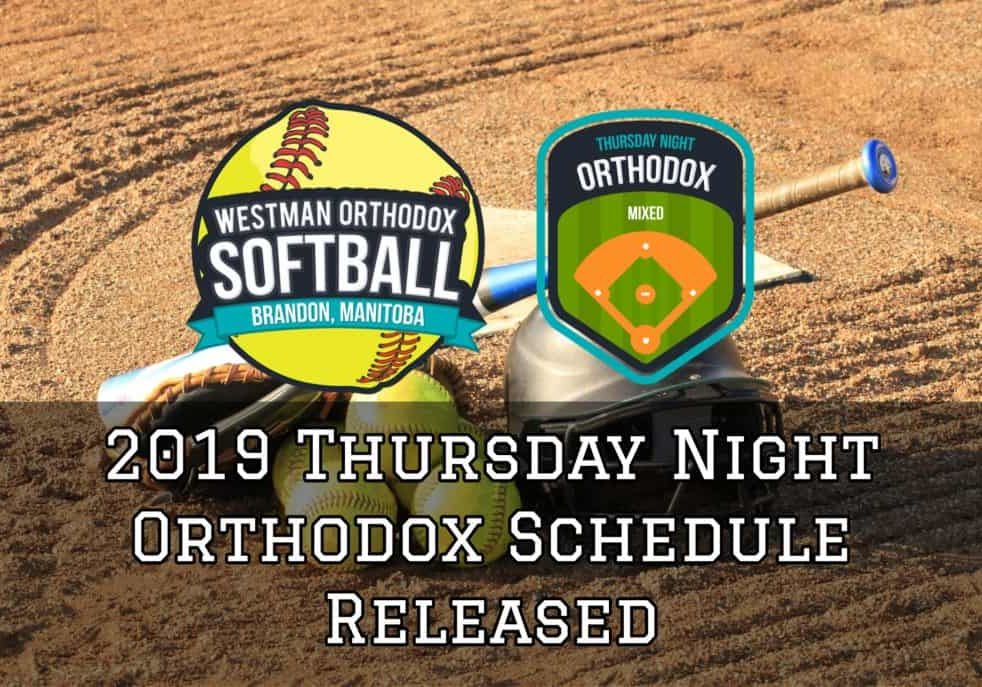 2019 Thursday Night Orthodox Schedule Released