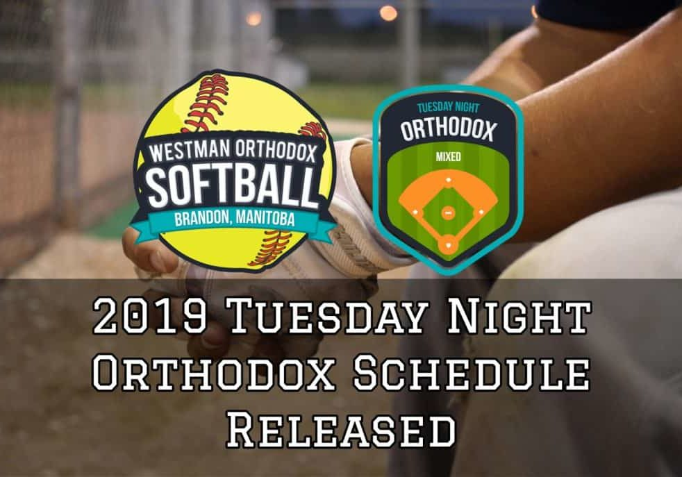 2019 Tuesday Night Orthodox Schedule Release